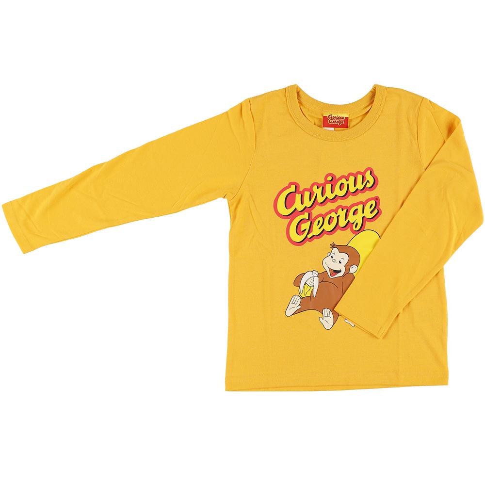 おさるのジョージ 長袖Tシャツ イエロー100cm